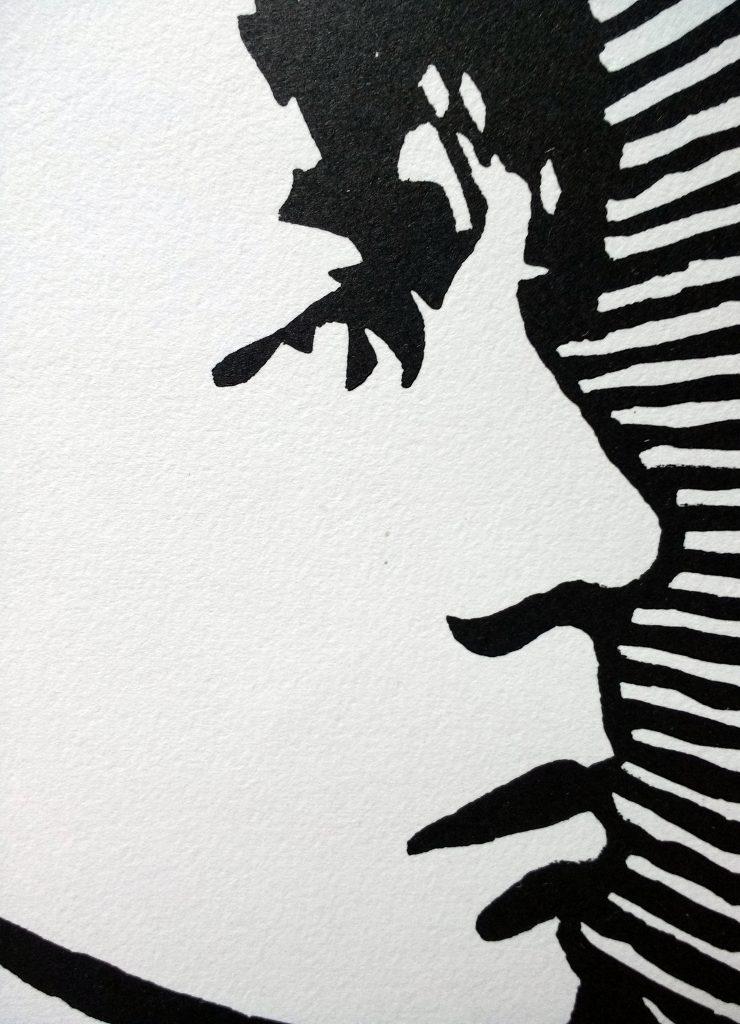 Iggy Pop Original Handmade Linocut Print Portrait