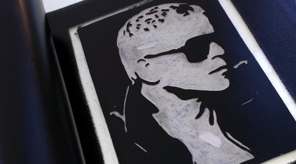 Lou Reed Original Handmade Linocut Print Portrait