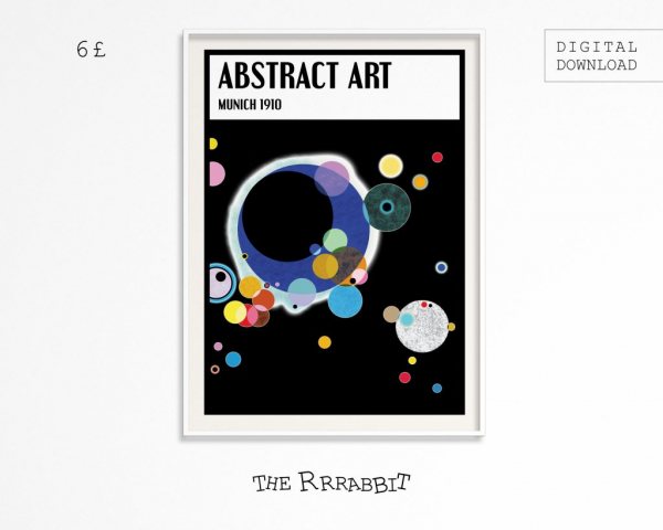 abstract downloadable art poster