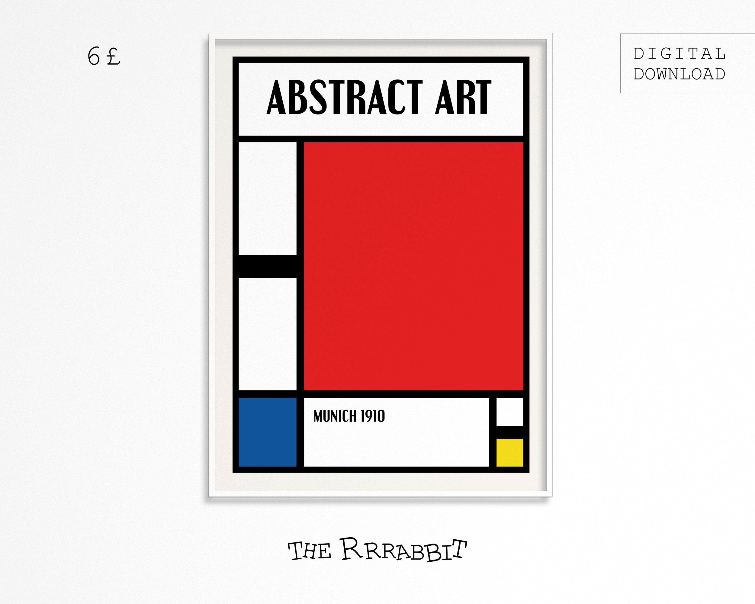 abstract printable art poster
