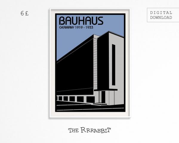 Bauhaus Printable Art Poster