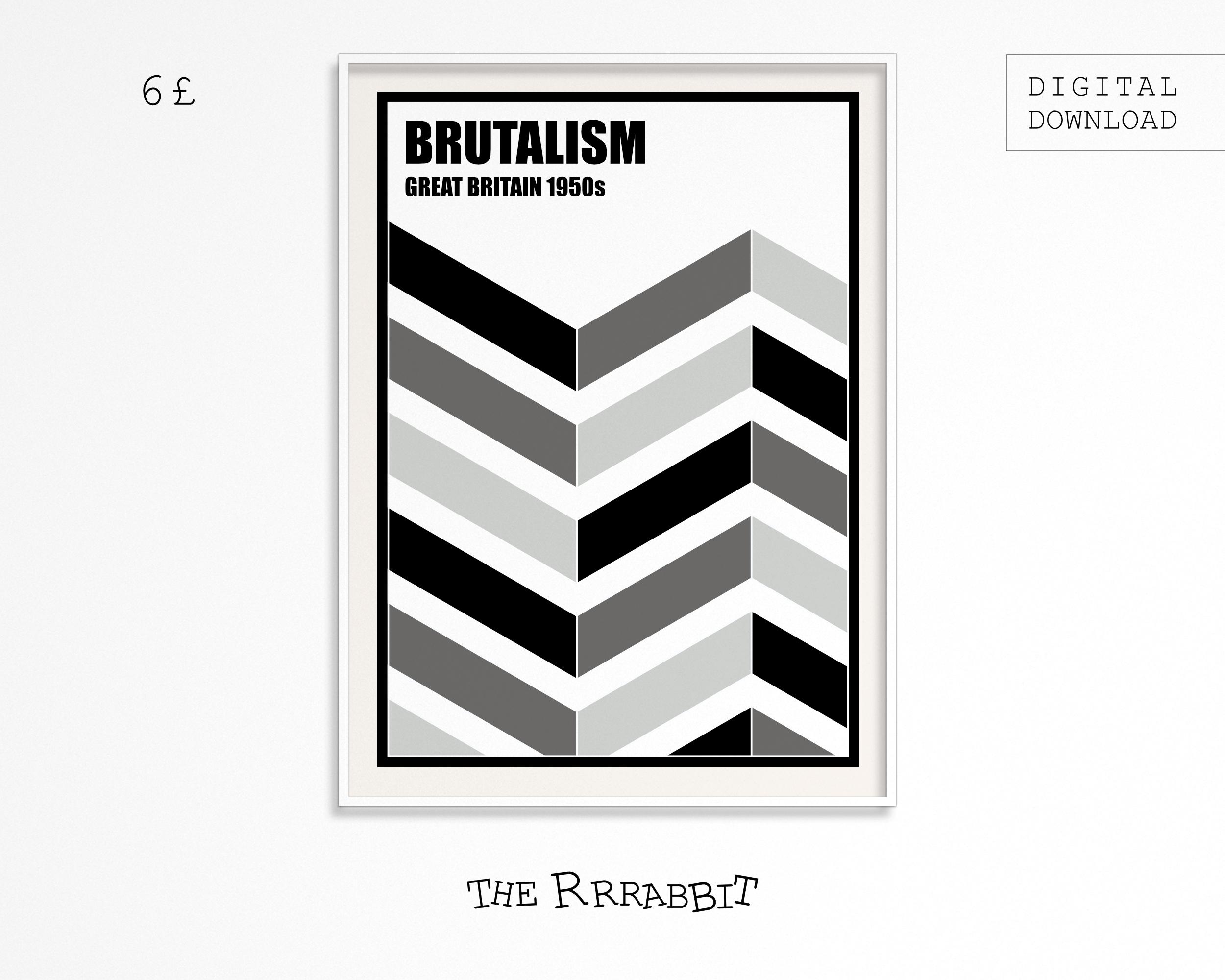 Brutalism Printable Digital Poster