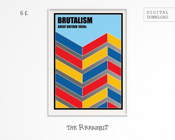 Brutalism Printable Art Poster