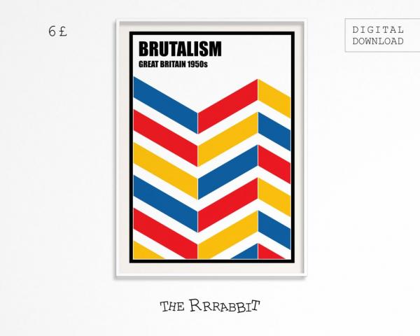 Brutalism Downloadable Art Poster