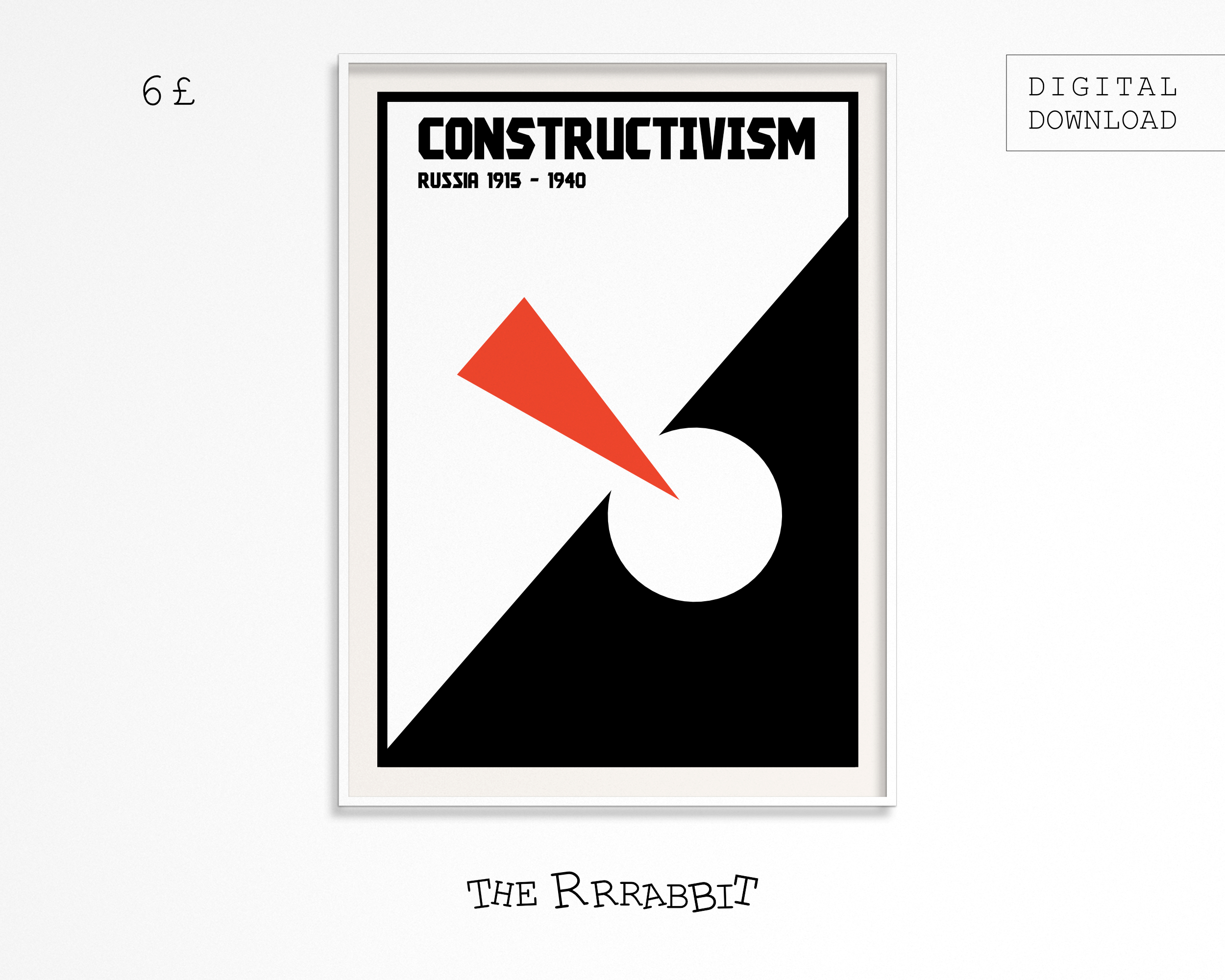 constructivism printable art poster