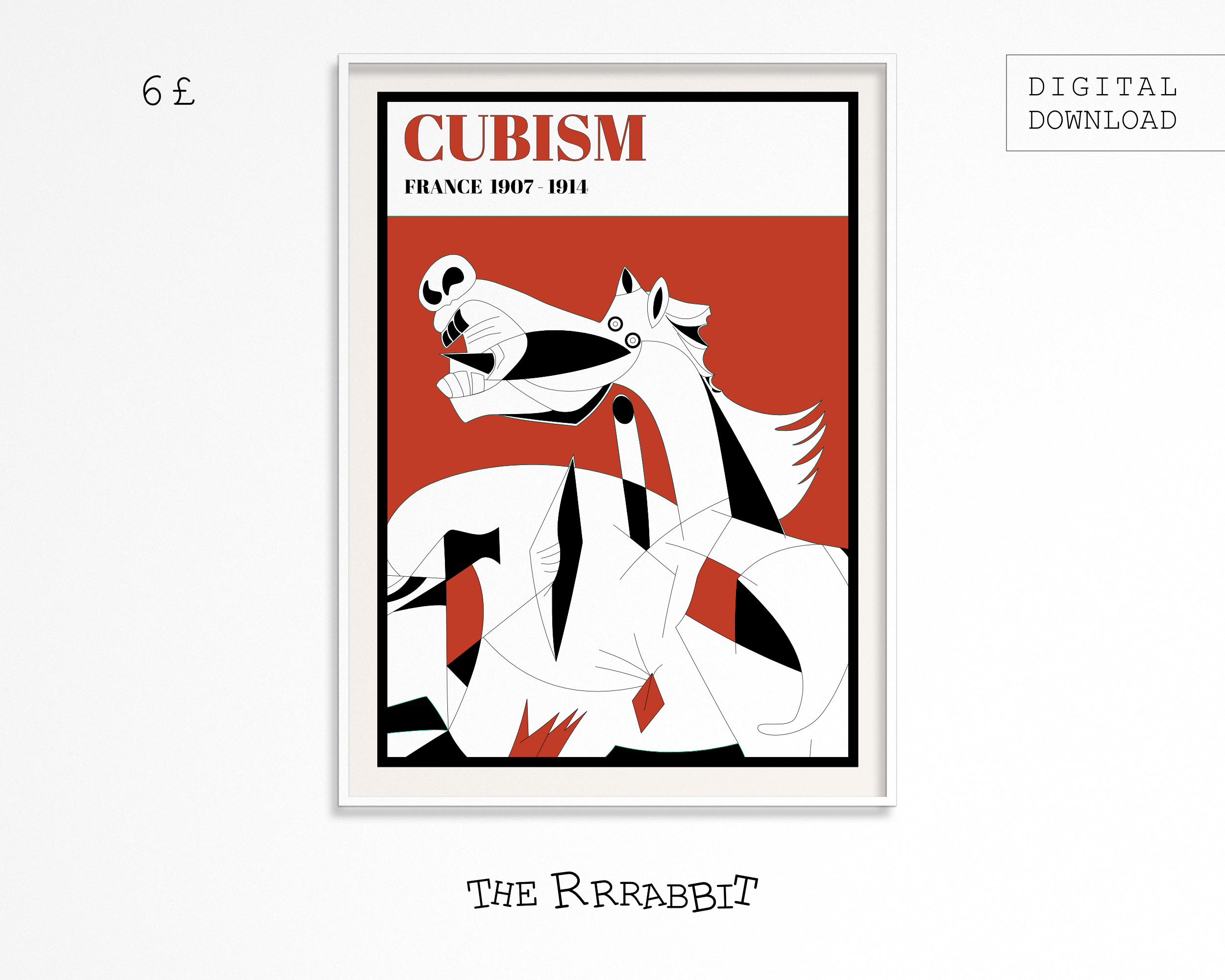 cubism downloadable art poster