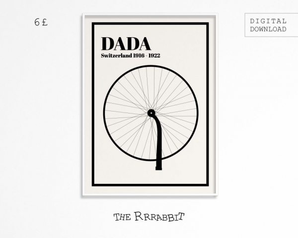 dadaism printable art poster