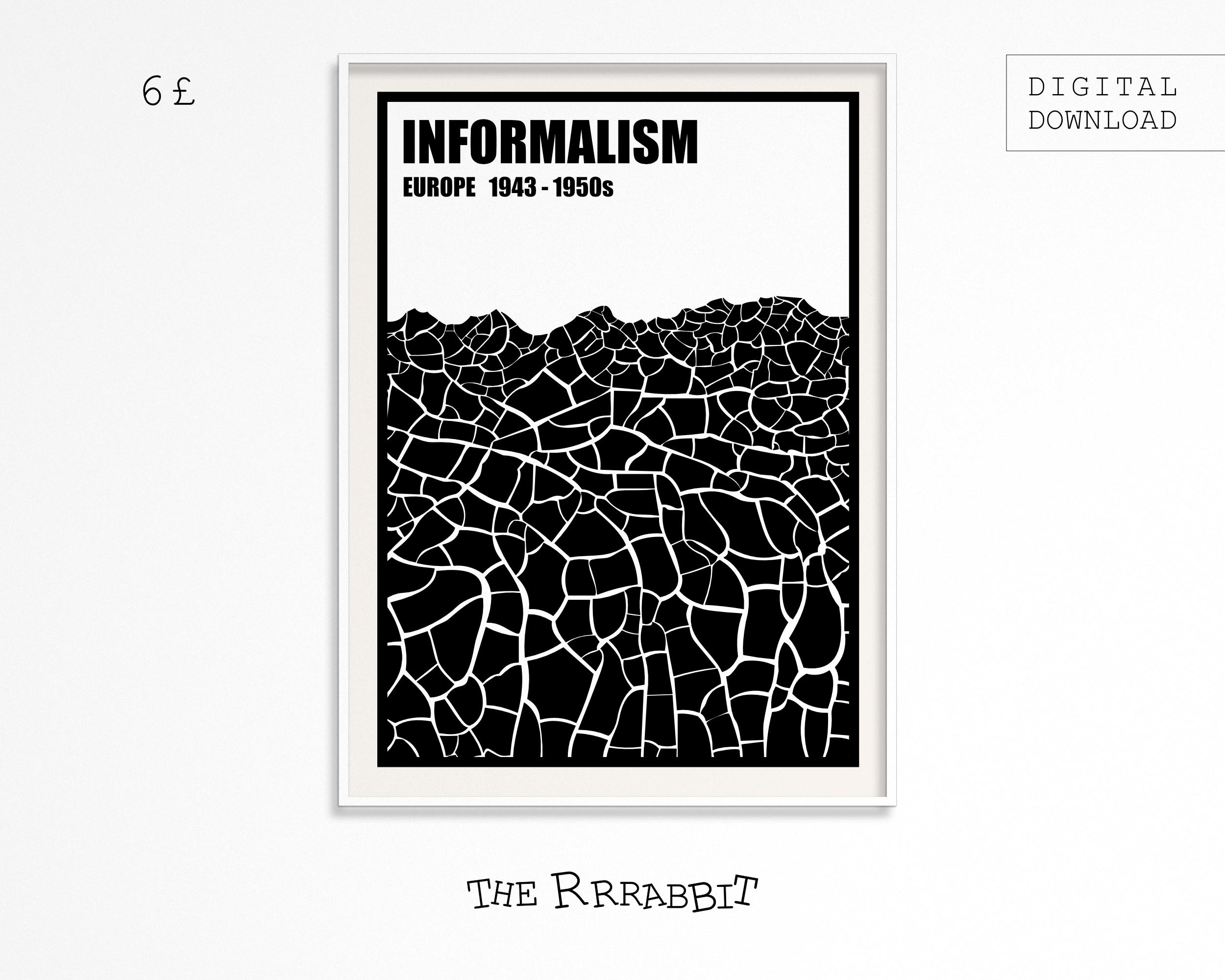 informalism printable art poster