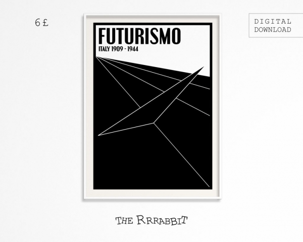 futurism printable art poster