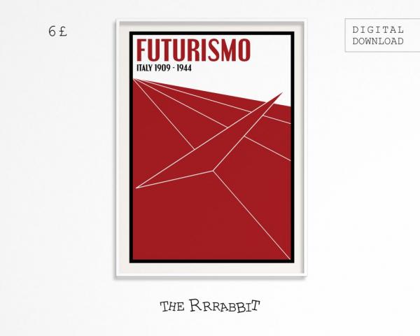 futurism downloadable poster