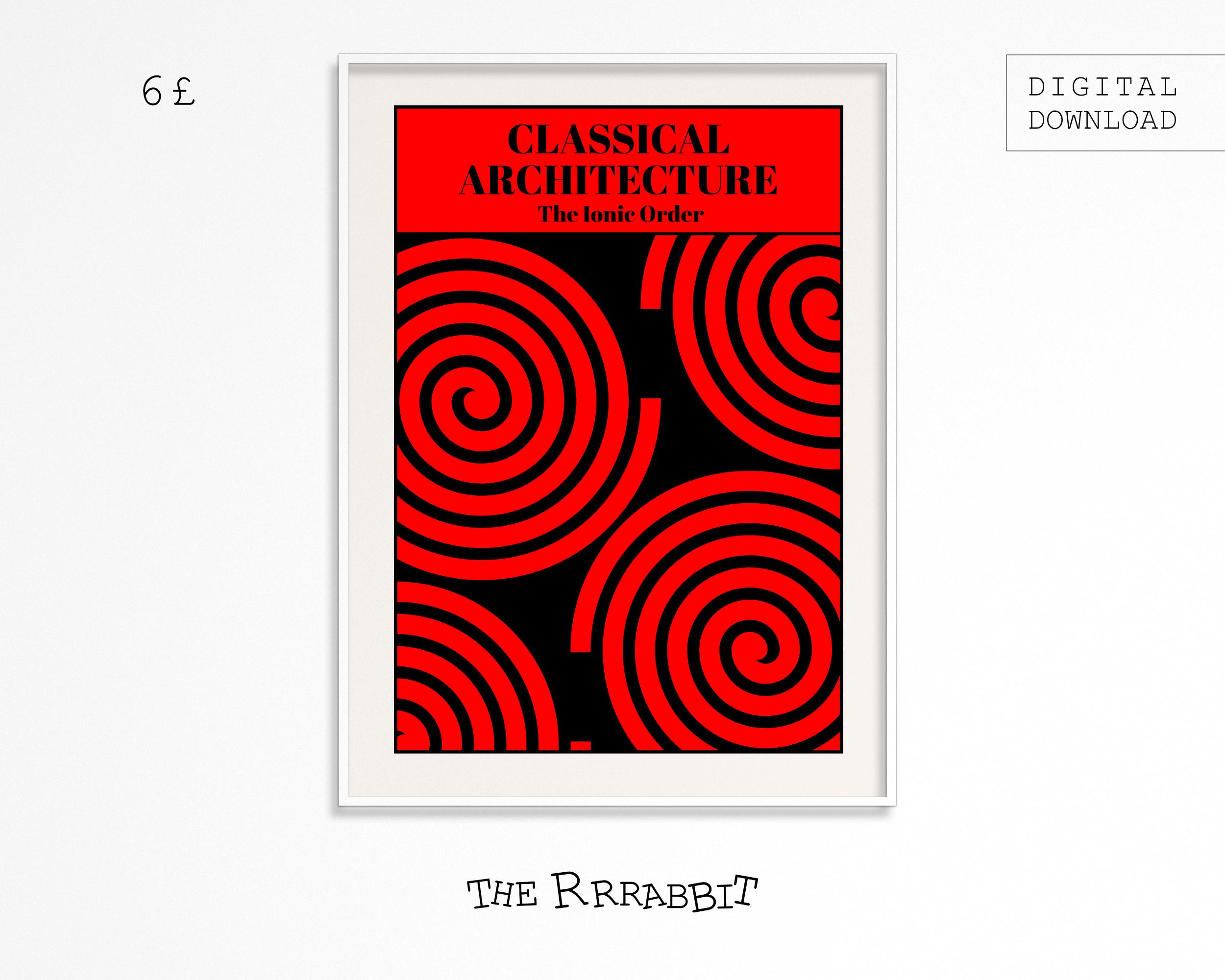 Ionic Column Printable Poster