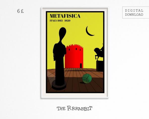 metafisica printable art poster