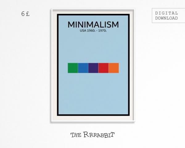minimalism printable art poster