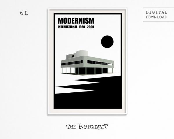 Modernism Printable Art Poster