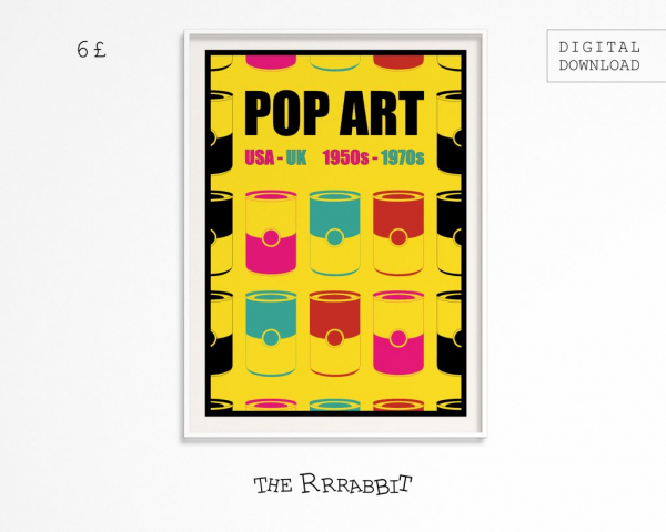 pop art printable poster art