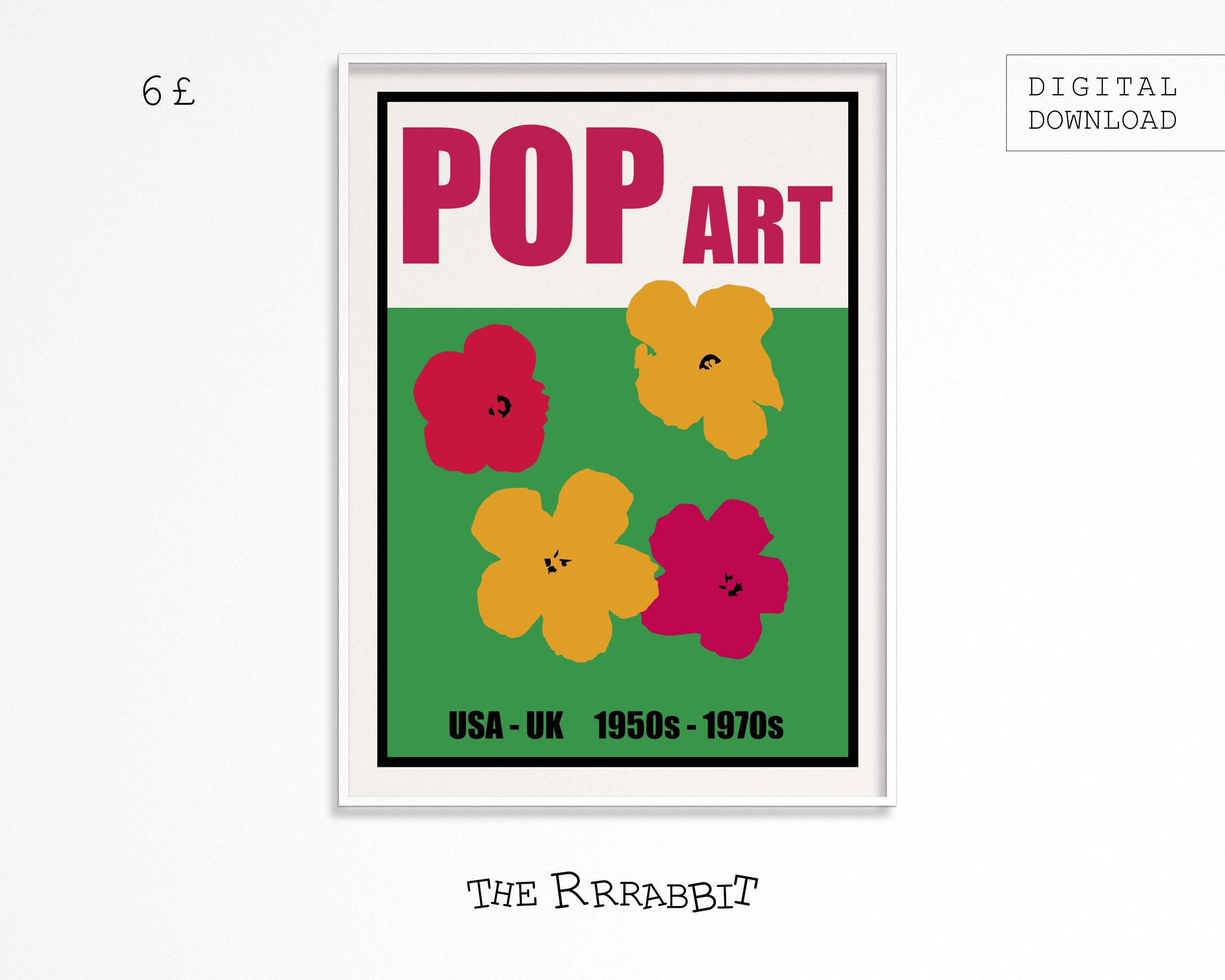 pop art downloadable poster