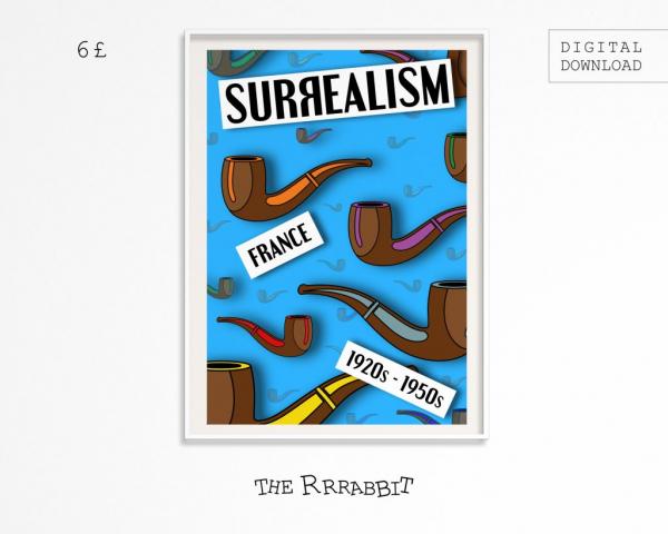 surrealism downloadable art poster