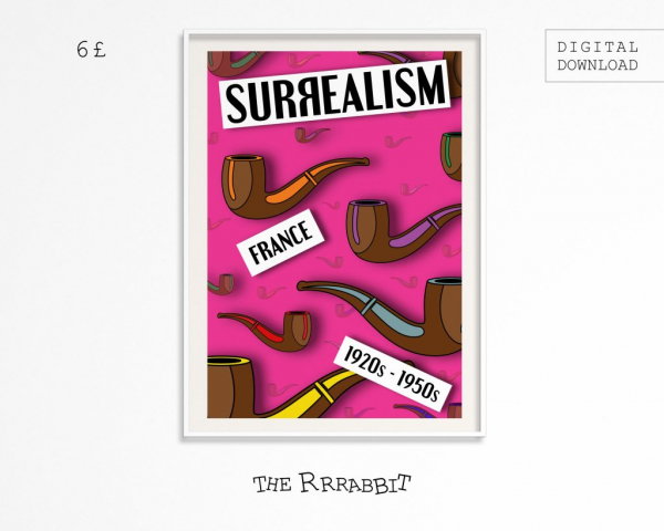 surrealism movement printable poster