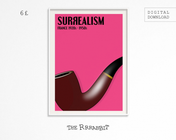surrealism printable art poster